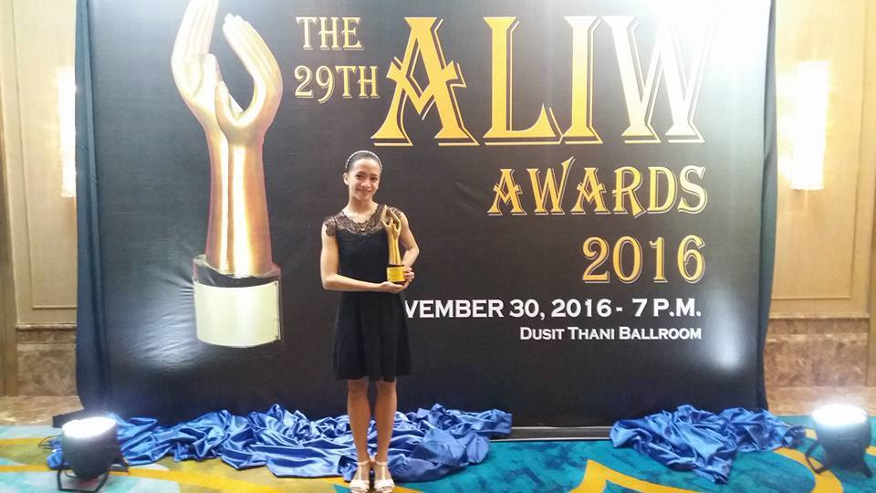 Jessa Balote considers her Aliw Award as Best Classical Dancer as an early Christmas gift. Photo from Jessa Balote's Facebook page
