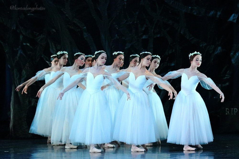 In    Giselle    during last June's Dance.MNL festival, Jessa (front, left) was part of the much-applauded Ballet Manila corps that portrayed the lovelorn wilis. Photo by Konrad Ong