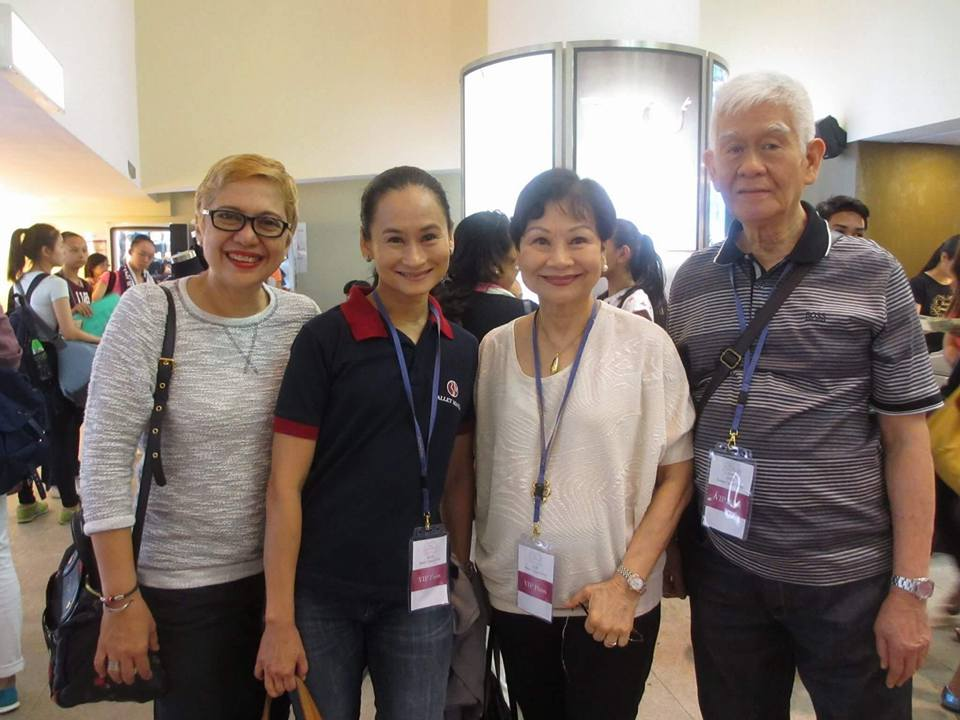 Then, as now, the Macujas stand by their daughter Lisa – this time as Ballet Manila competed in the 2015 AGP. With them is Lisa's best friend, writer Angela Ureta.
