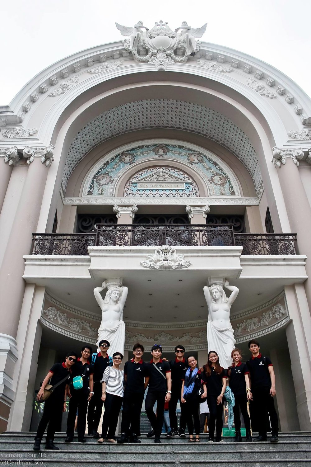Mrs. Macuja (fourth from left) was with the BM group that went to Vietnam in 2016 and performed at the Saigon Opera House in Ho Chi Mihn (above) and in Can Tho City.