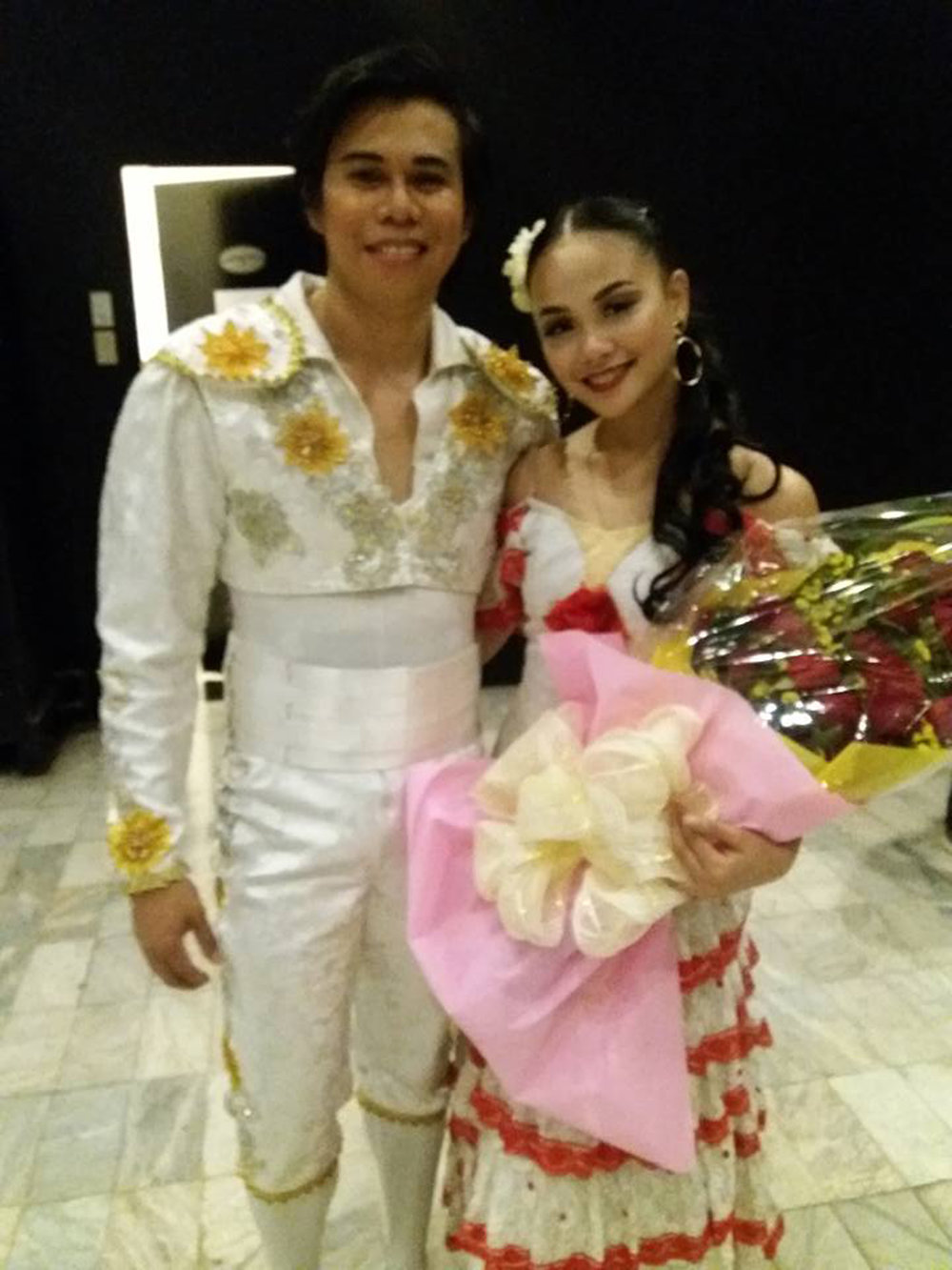 Rissa May danced as Mercedes in Ballet Manila's recent production of    Don Quixote   , opposite Francis Cascaño as her Espada. Photo from Rissa May Camaclang's Facebook page
