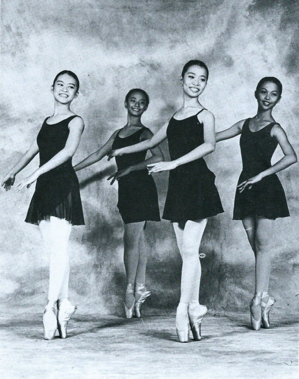 Fifteen-year-old Sofie (leftmost) joined Ballet Manila as a scholar in 1997.