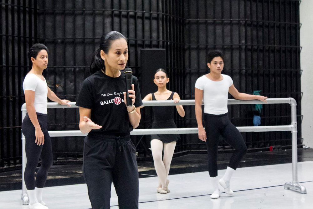 "Prima ballerina Lisa Macuja-Elizalde – or simply ""Teacher Lisa"" to her students –asserts the school's role: ""We have a legacy to nurture and commit to."" Photo taken by Jimmy Villanueva"