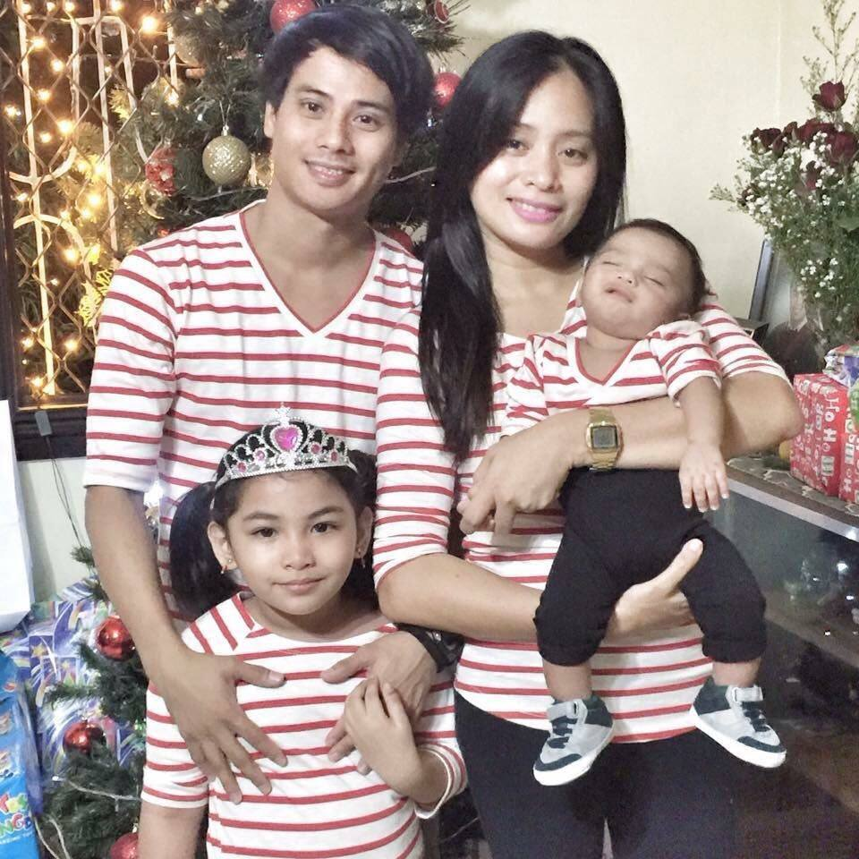 Celebrating Christmas: Alvin Santos with wife Kristine and kids Kakay and Matteo