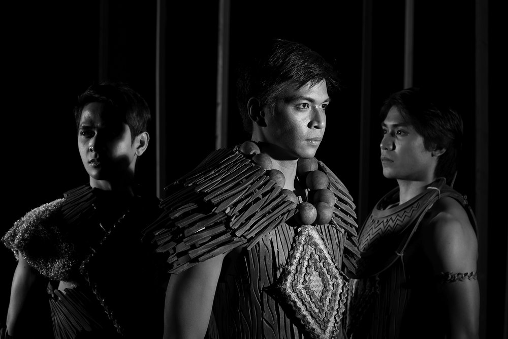 Rudy De Dios, Mark Sumaylo and Romeo Peralta as the princes in    Ibong Adarna
