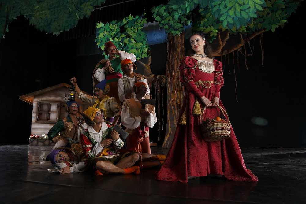 Snow White (Katherine Barkman) finds new friends in the forest in the ballet interpretation of    Snow White   .