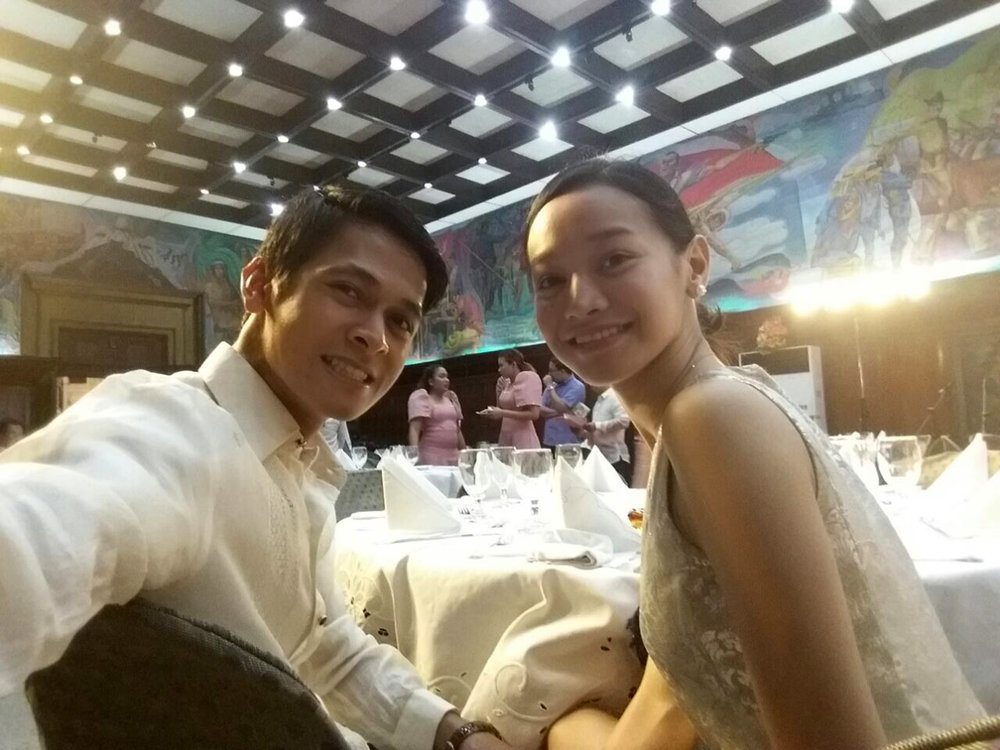 Lending support to Rudy is former Ballet Manila principal dancer and his girlfriend Dawna Reign Mangahas.