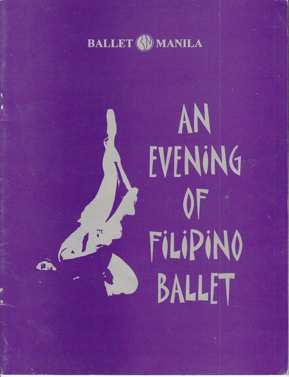 Souvenir program of an all-Filipino season offering. Photo courtesy of the Ballet Manila Archives