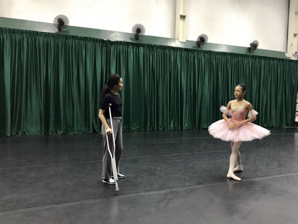 BM scholar Loraine Gaile Jarlega is personally coached by prima ballerina and BM artistic director Lisa Macuja-Elizalde.