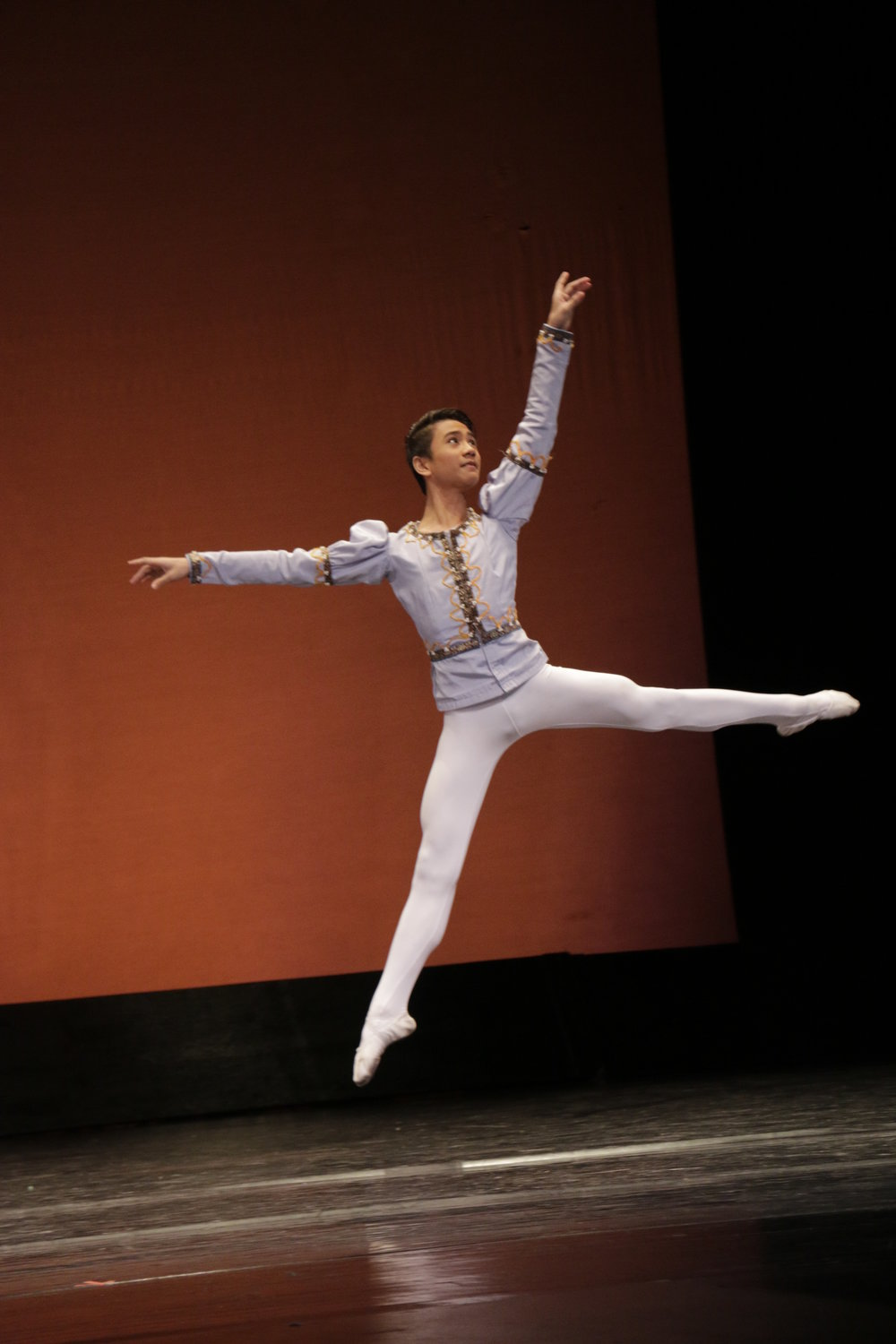 Despite problems with the music, Brian clinched the 3rd prize in the    CCP Ballet Competition   's Junior category. Photo by Kiko Cabuena/CCP