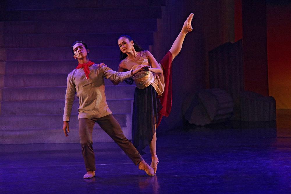 Dancing with prima ballerina Lisa Macuja-Elizalde in  Martin Lawrance's Rebel .