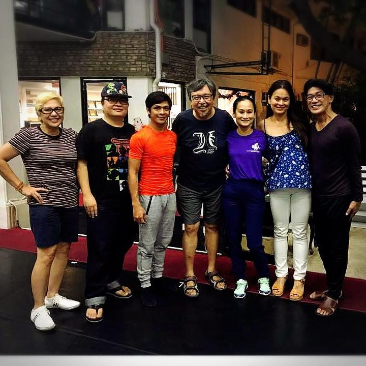 The creative team behind    Ibong Adarna    after a recent run-through, from left: scriptwriter Angela Blardony Ureta; composer Diwa de Leon; choreographer Gerardo Francisco; actor Bodjie Pascua (the Ermintanyo); Ballet Manila artistic director Lisa Macuja-Elizalde; soprano Gia Macuja-Atchison (the singing Adarna); and Ballet Manila co-artistic director Osias Barroso. Photo by Eileen Lopez