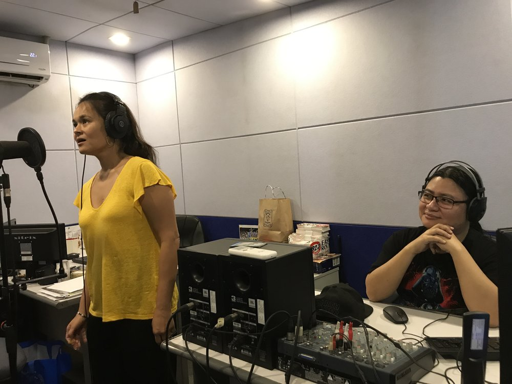 Gia records Song of    Adarna    with composer Diwa de Leon at the Manila Broadcasting Corporation studio upon the request of MBC chairman and Gia's brother-in-law, Fred J. Elizalde, who wants the song to be played on radio.