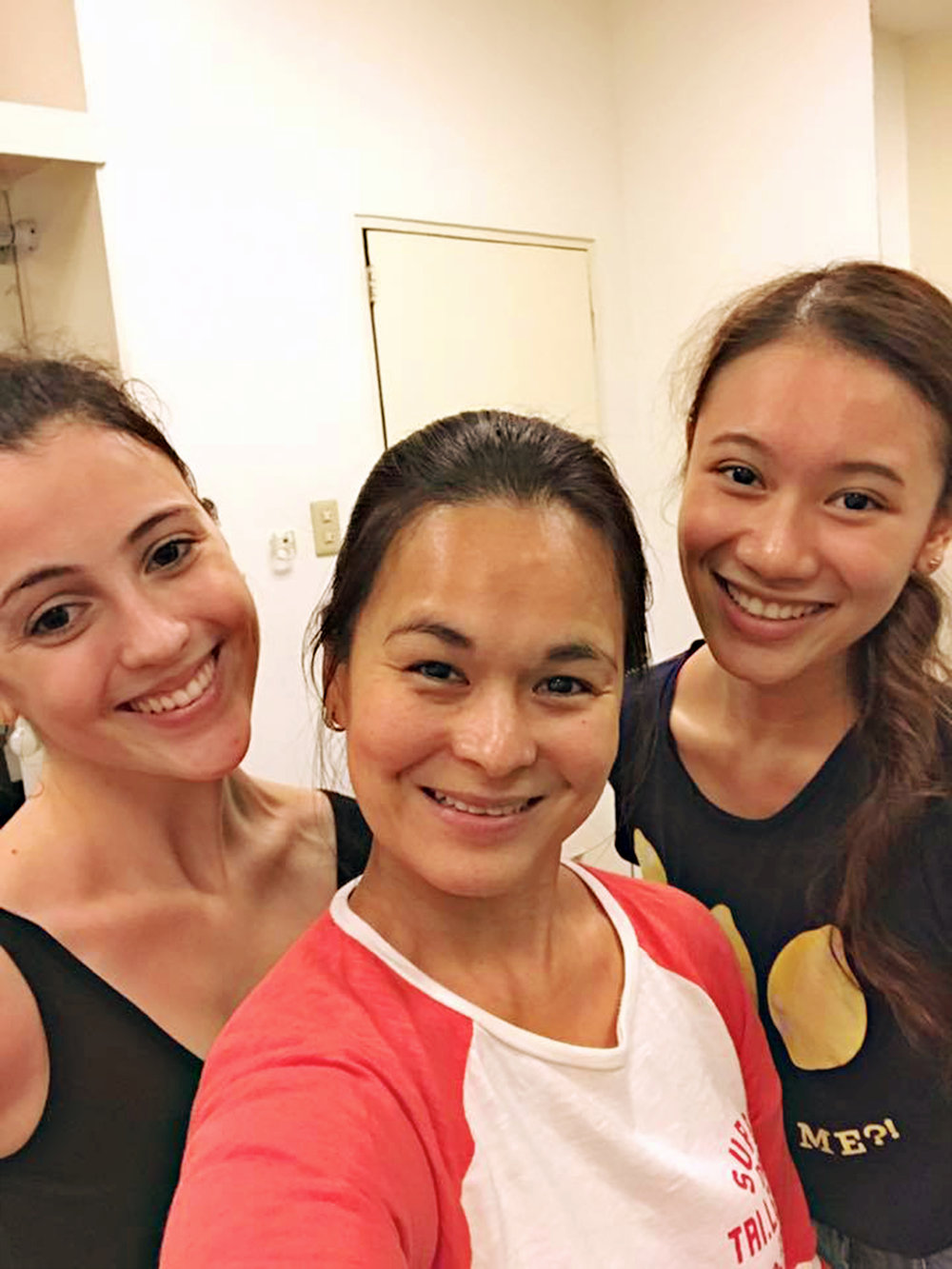 With her dancing alter-egos in    Ibong Adarna   , Katherine Barkman (left) and Abigail Oliveiro