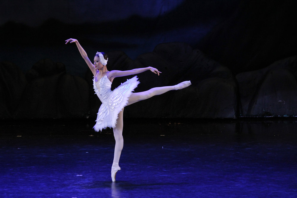 Soloist Abigail Oliveiro performs as Odette, the vulnerable White Swan, in    The Swan, The Fairy and The Princess    in 2016. Photo by Ocs Alvarez