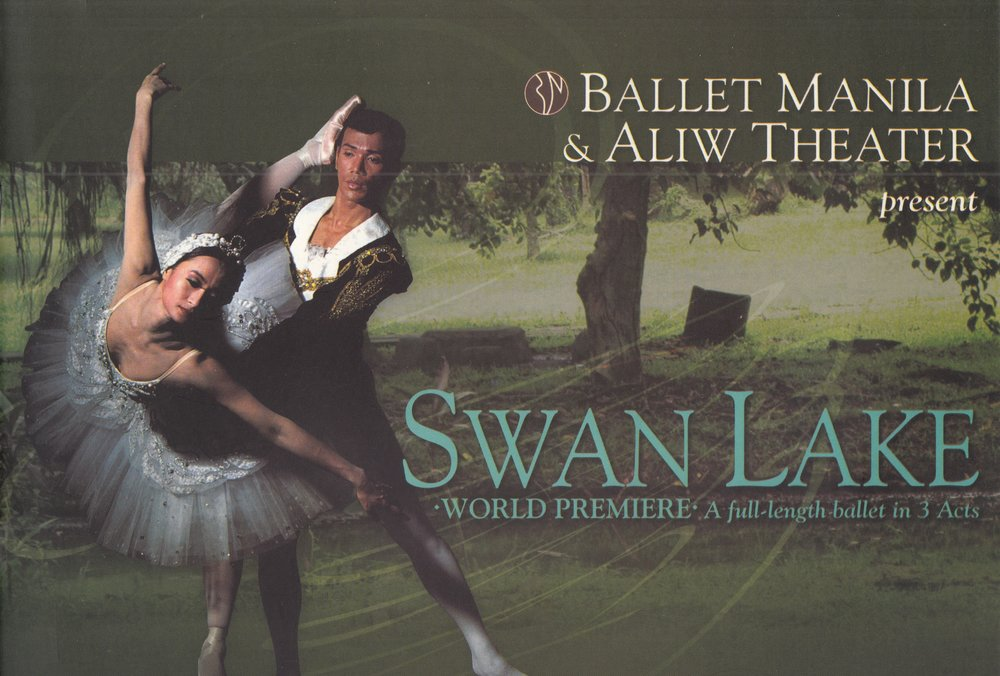 In 2003, Lisa Macuja-Elizalde and Osias Barroso headlined    Swan Lake    featuring, for the first time, an all-Filipino cast. Souvenir program from the Ballet Manila Archives collection