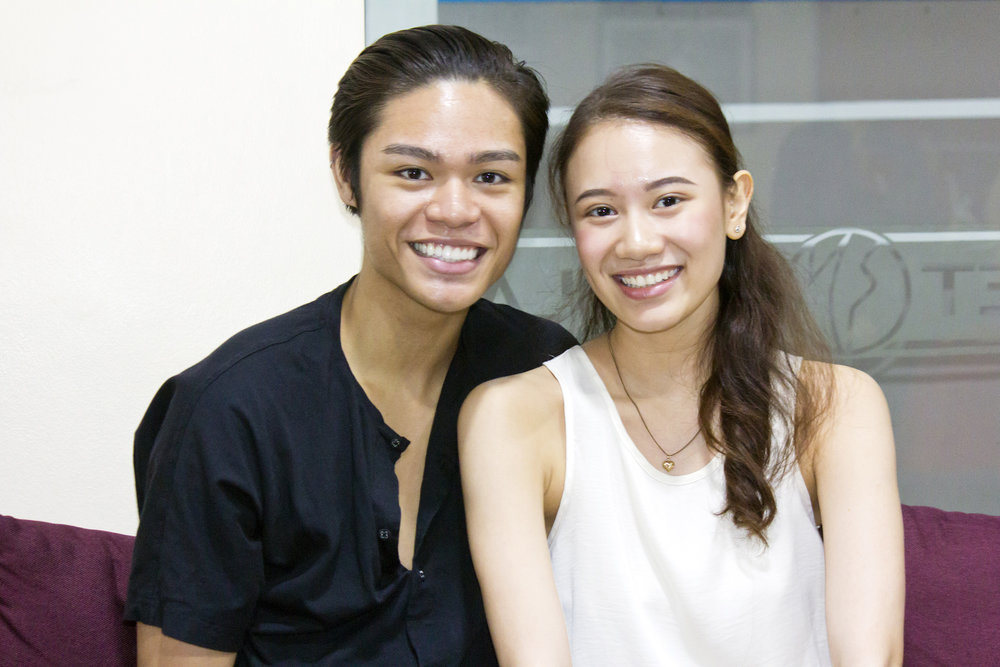 Godwin Merano and Abigail Oliveiro enjoy a friendship forged in ballet. Photo by Jimmy Villanueva