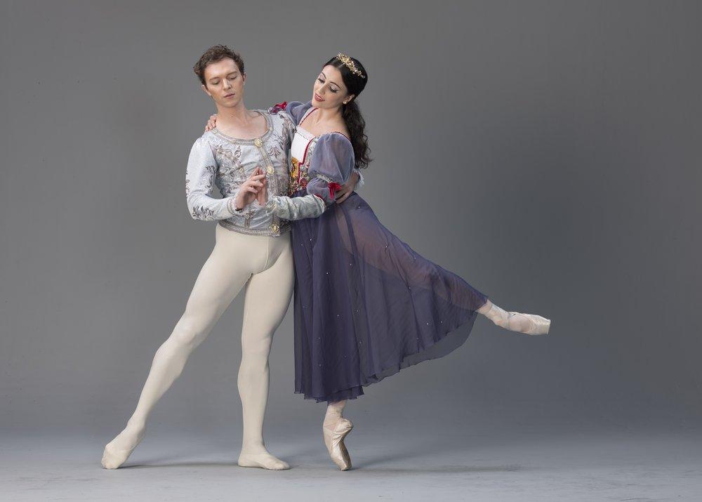 Ballet Manila guest artist Joseph Phillips is the Prince to principal dancer Katherine Barkman's Snow White. Photo by G-nie Arambulo