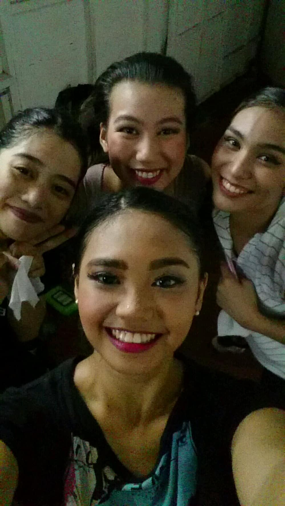 Right after performing in    Ballet Pinoy   , a triumphant Abby just had to take a selfie with her castmates. Photo courtesy of Abby Bonifacio