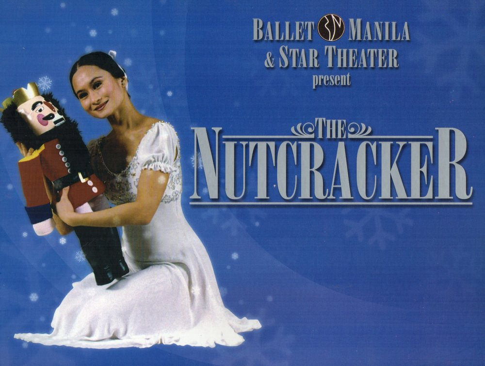 The cover of Ballet Manila's 2003    Nutcracker    production shows Lisa Macuja-Elizalde who danced the dual role of Big Masha and the Sugarplum Fairy. From the Ballet Manila Archives collection