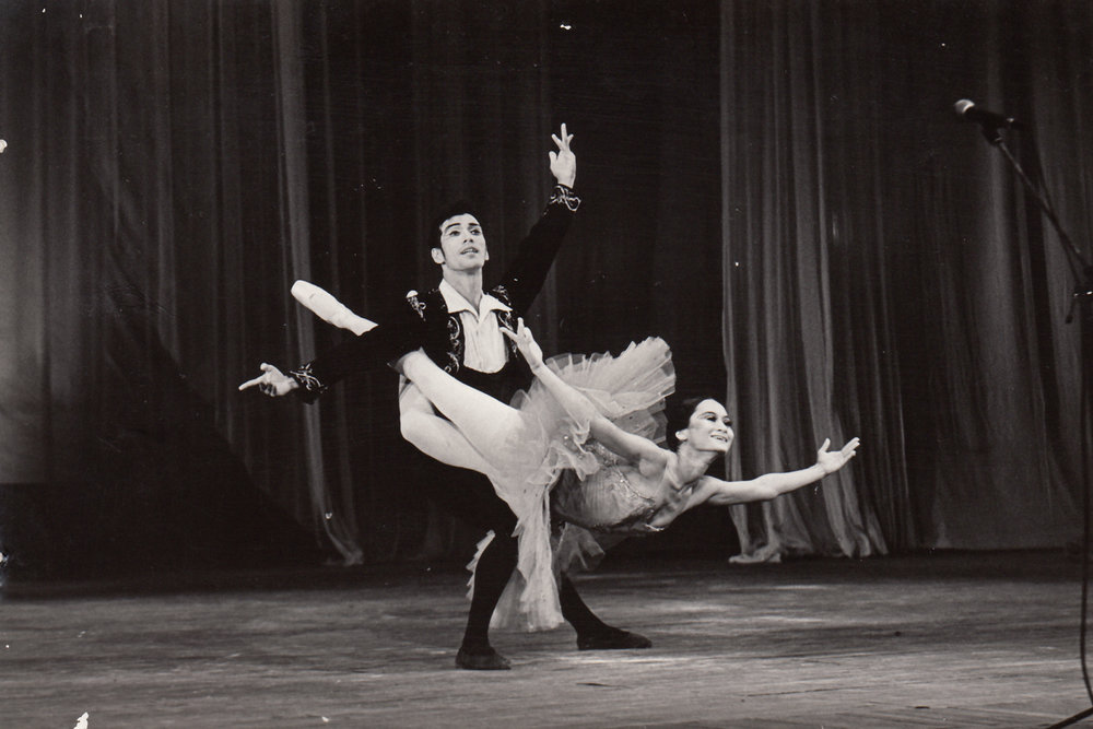 In his years as a danseur, Shaz partnered Lisa Macuja-Elizalde in    Don Quixote    numerous times, including in Russia. Photo from the Ballet Manila Archives collection