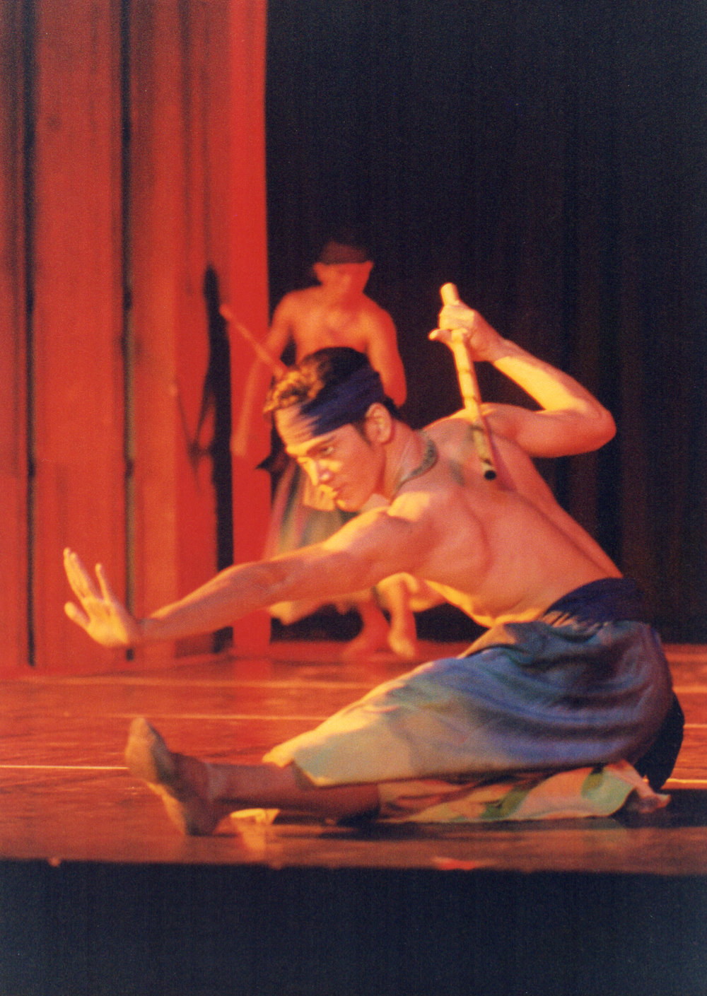 "Osias ""Shaz"" Barroso was part of the original group that danced Ric Culalic's    Arnis    when it premiered in 1998. Photo from the Ballet Manila Archives collection"