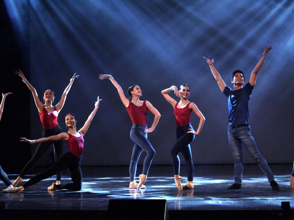 Elpidio is the sole male danseur in the OPM medley performed by the ABS-CBN Philarmonic Orchestra and choreographed by Jonathan Janolo. Photo by Giselle P. Kasilag