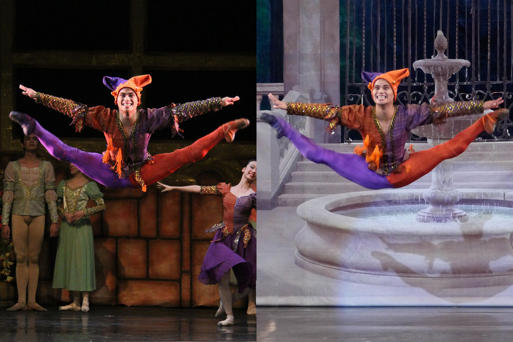 The Jester is a character Alvin is comfortable playing, as he likes to joke around in real life. He danced the role in    Swan Lake    in 2014 (left) and 2017.