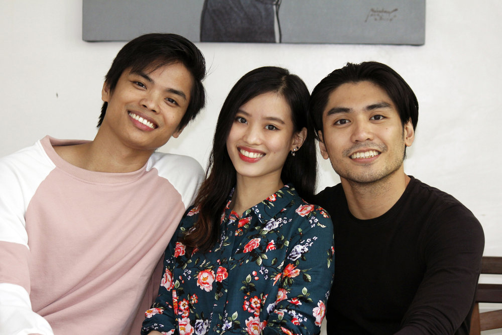 Elpidio Magat, Joan Emery Sia and Romeo Peralta agree that being named principal dancers of Ballet Manila means working harder and dedicating themselves to dance even more. Photo by Jimmy Villanueva