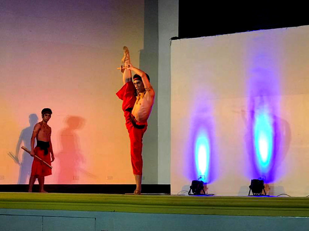 After recovering from a foot injury, Brian is back in fine form dancing in    Ballet & Ballads    in Bacoor, Cavite. Photo by Eileen Lopez