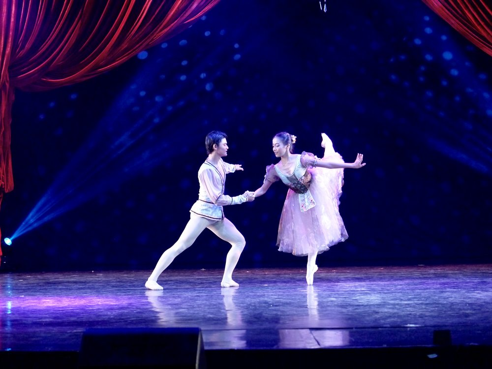 Joshua Enciso and Nicole Barroso will compete as a pair in the USA International Ballet Competition, where they will dance the    Peasant Pas de Deux    from    Giselle   . Photo by Giselle P. Kasilag