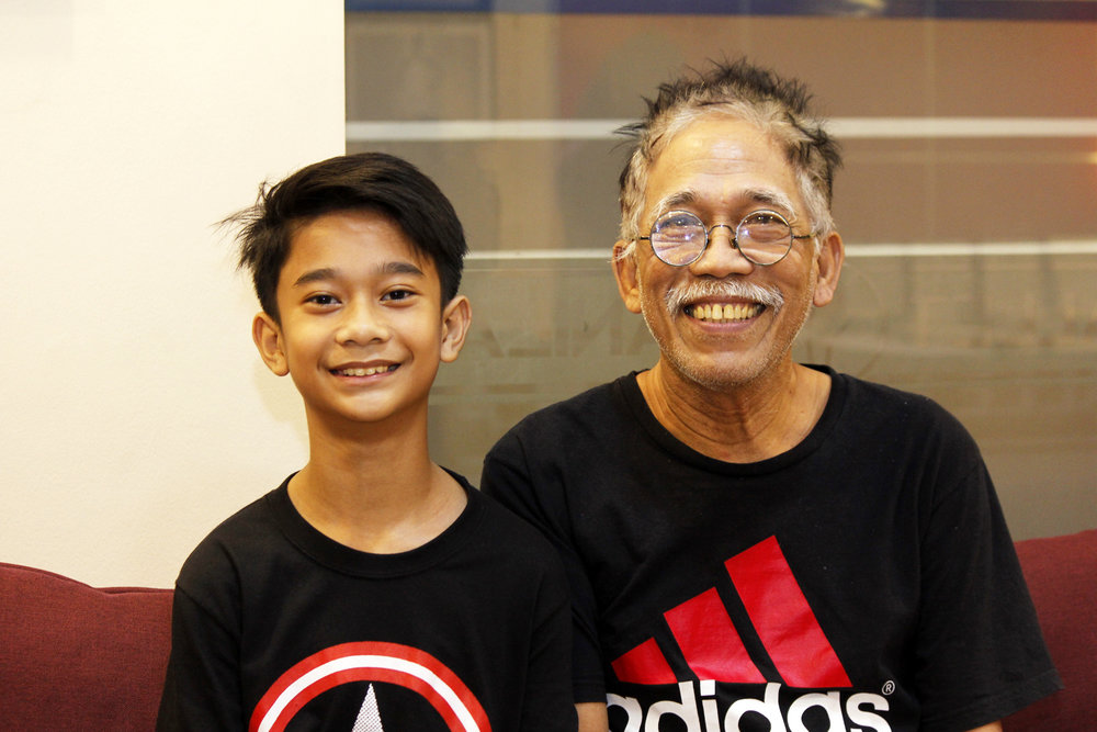 Ernesto Dones (right) always reminds his son Sixto to make the most of the chance he's been given as a scholar of Ballet Manila's Project Ballet Futures. Photo by Jimmy Villanueva