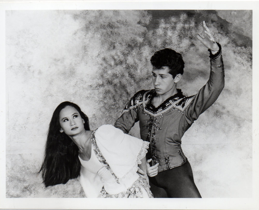Gabriela Silang (Lisa Macuja) in a confrontation scene with the Spanish Soldier (Andrei Katuntsev)