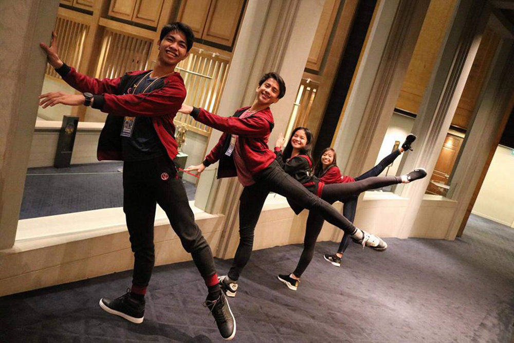 Alvin strike ballet poses with Brian Sevilla, Shaira Comeros and Elyssabeth Apilado in Bangkok where they participated in the 2018 Australian Teachers of Dance International Dance Competition last February.