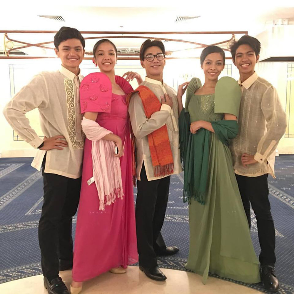 Marinette (second from left) was part of the Ballet Manila delegation that participated in the 2016 Dance Open International Ballet Festival in Russia, along with Joshua Enciso, Nicole Barroso and Alvin Dictado, with their mentor Osias Barroso (center). Photo from Marinette Franco's Facebook page