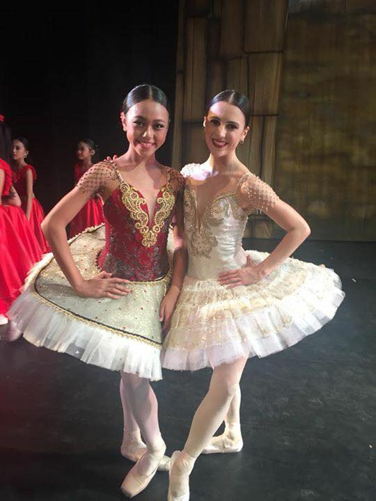 With BM principal dancer Katherine Barkman, whom Gaile says she is a fan of. Photo courtesy of Loraine Gaile Jarlega