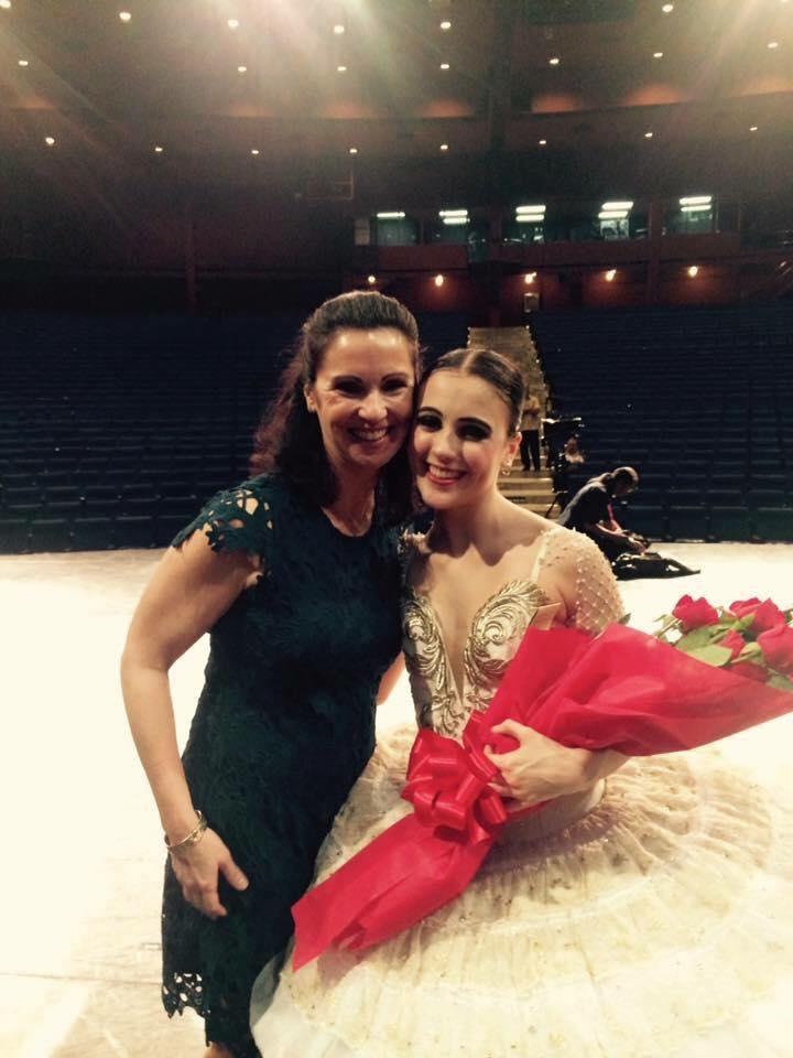 Katherine Barkman celebrates her debut as Kitri in the full-length    Don Quixote    with mom Darlene who flew in from the US just to watch her.