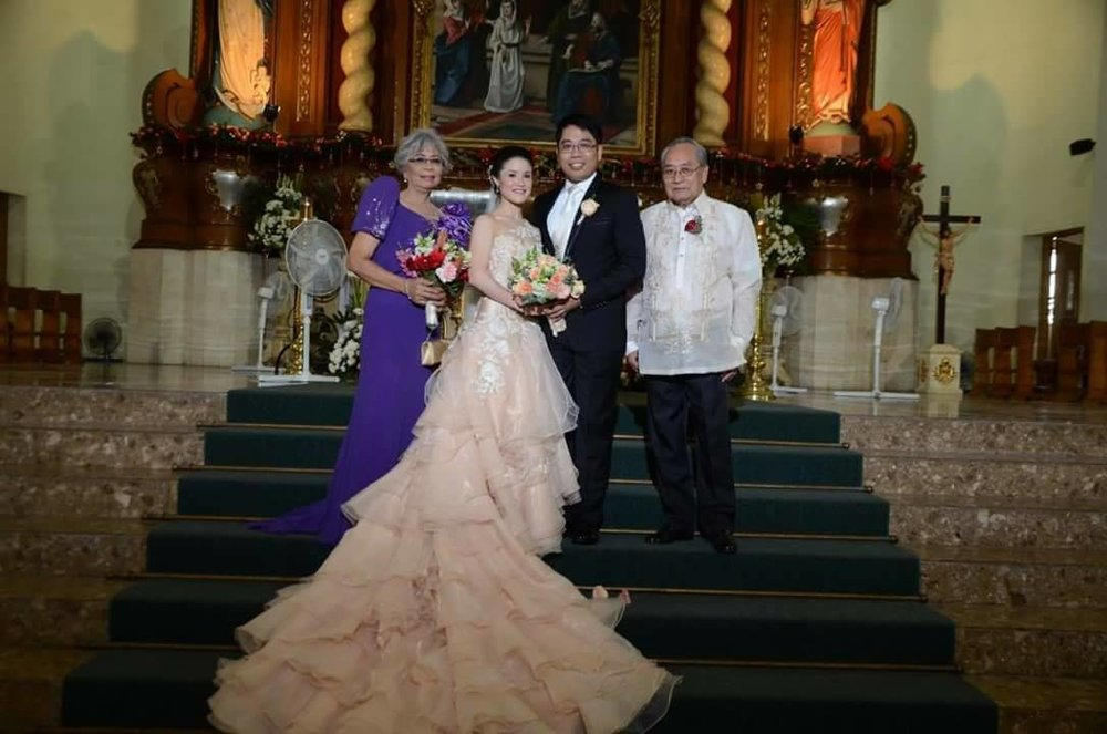 Jonathan received valuable advice from his parents, but particularly from mom Arcangel (Leng to family and Angie to church friends) when he got married to Tiffany Chiang.