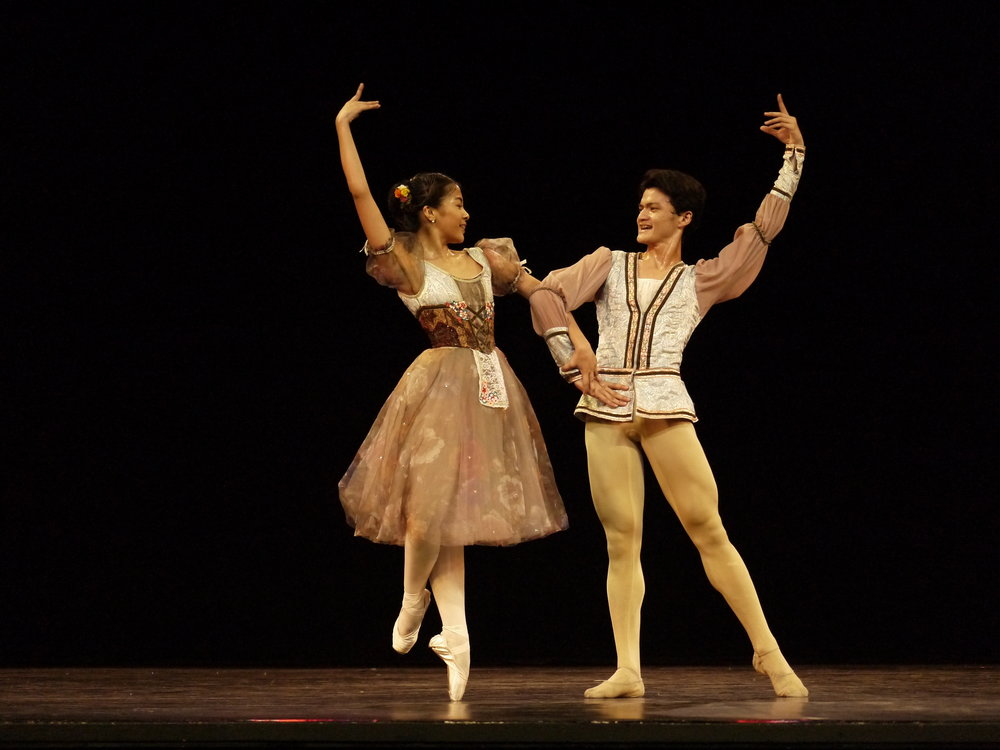 Nicole Barroso and Joshua Enciso perform the    Peasant Pas de Deux    in    Dance Journeys   , a recent showcase of dancers headed for competitions abroad. Photo by Giselle P. Kasilag