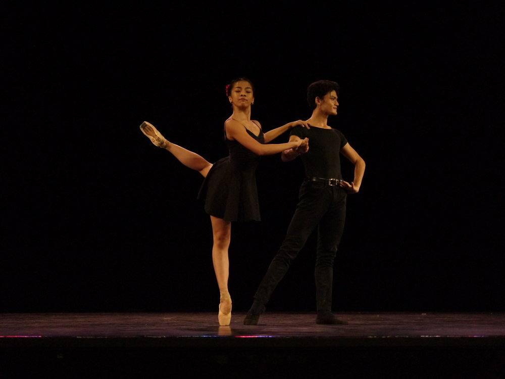 Both competing as a pair for the first time, Joshua Enciso and Nicole Barroso take on the fiery choreography of George Birkadze, the tango-inspired    Bru   . Photo by Giselle P. Kasilag