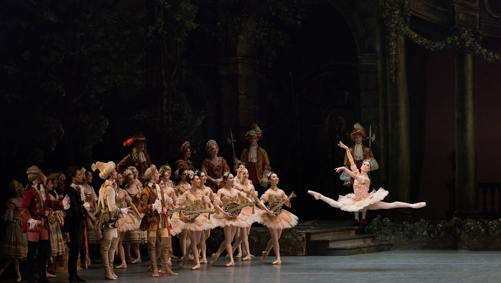 Dancing in Boston Ballet's production of    The Sleeping Beauty   : Aurora is one of Lia's favorite roles. Photo by Lisa Voll