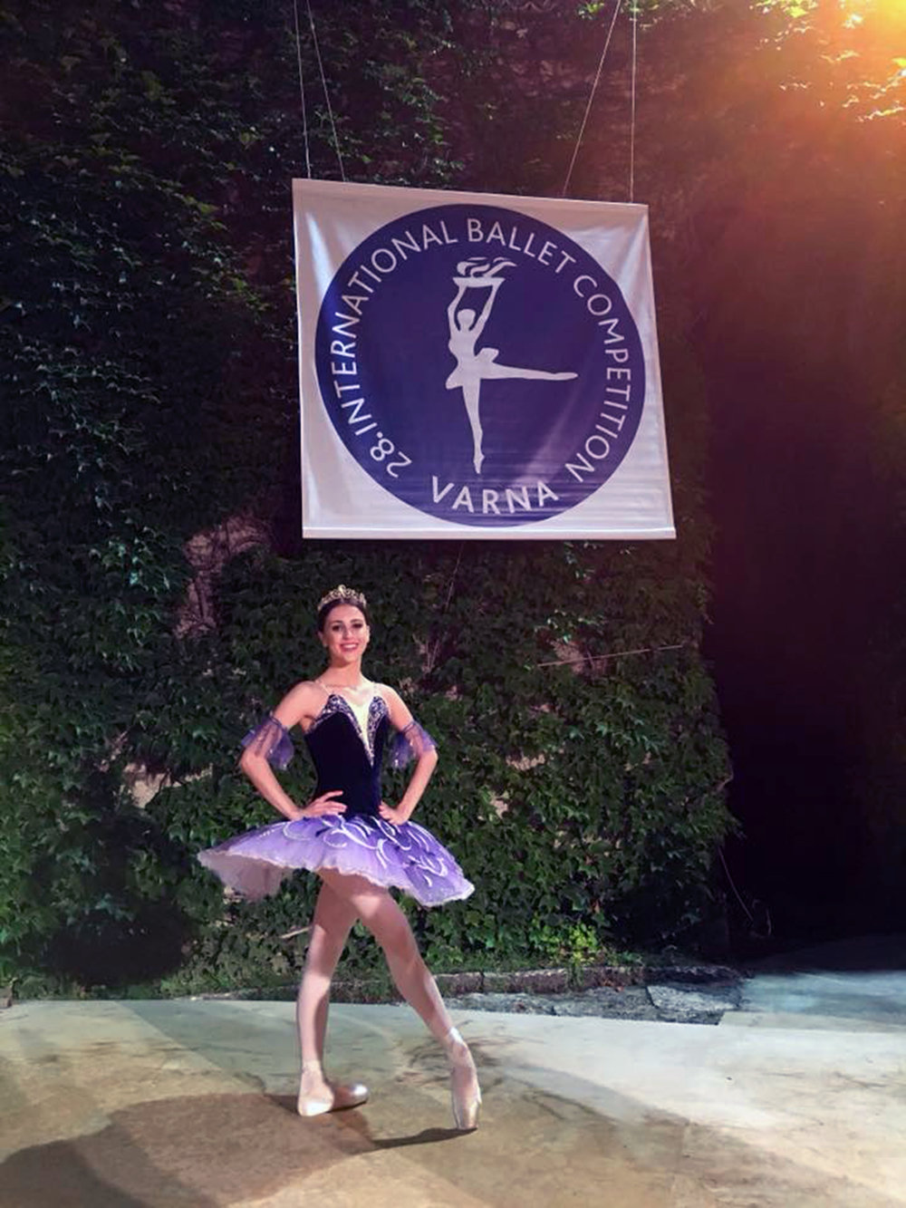 Varna International Competition silver medalist Katherine Barkman smiles triumphantly after performing in the winners' gala capping the two-week competition.