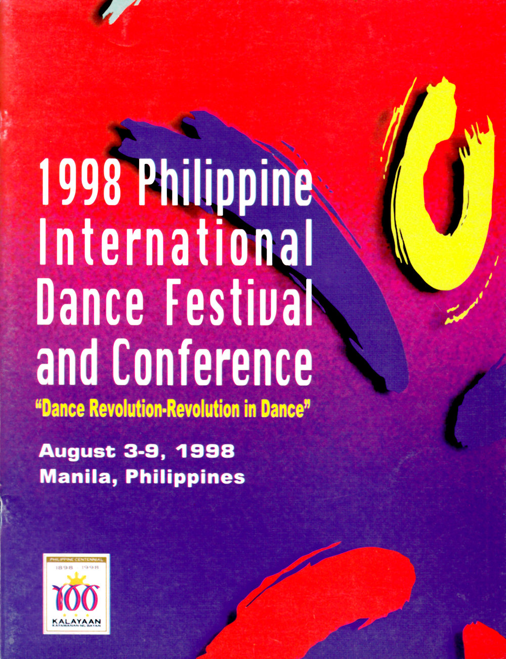 Cover of the festival souvenir program. Photo from the Ballet Manila Archives collection