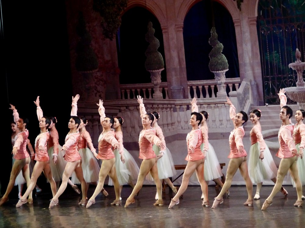 Jamil (fifth from left) performs in  Swan Lake . Photo by Giselle P. Kasilag