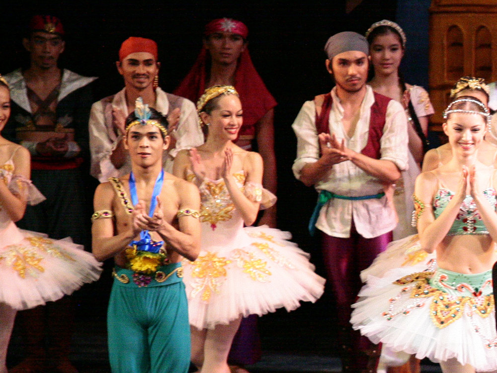 Romeo (second from right) is cast as a pirate in one of the shows of  Le Corsaire  in 2010. Photo by Jojo Mamangun