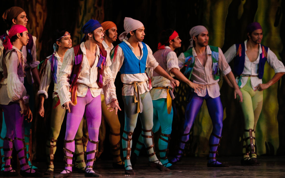 Even if a danseur has played a certain role several times, Romeo (second from right, in the 2013  Le Corsaire ) believes the challenge is to find ways to make it interesting. Photo by Ocs Alvarez