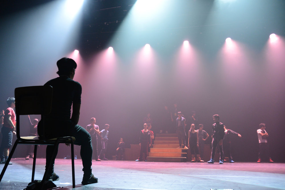 Geri commands the stage – as a choreographer this time, as he blocks  Ibong Adarna  for Ballet Manila's performance in Israel. Photo by Mark Sumaylo