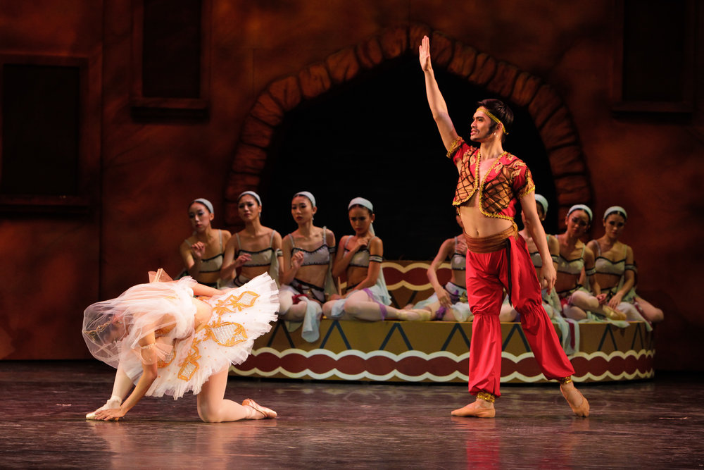 Soloist Alfren Salgado took on the role of Lankadem during the 2013 production of  Le Corsaire  which was also prima ballerina Lisa Macuja-Elizalde's final performance of this ballet. Photo by Jojo Mamangun