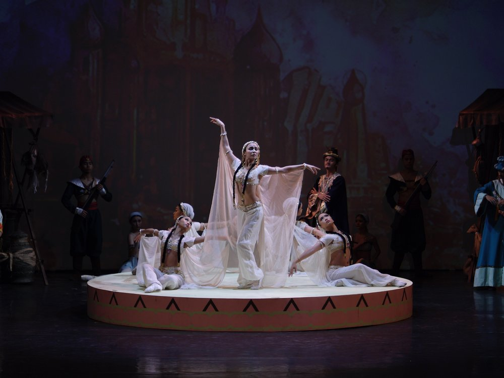 Emma loves dancing the classics and enjoyed being the Lead Algerian in Ballet Manila's recent production of  Le Corsaire . Photo by Giselle P. Kasilag