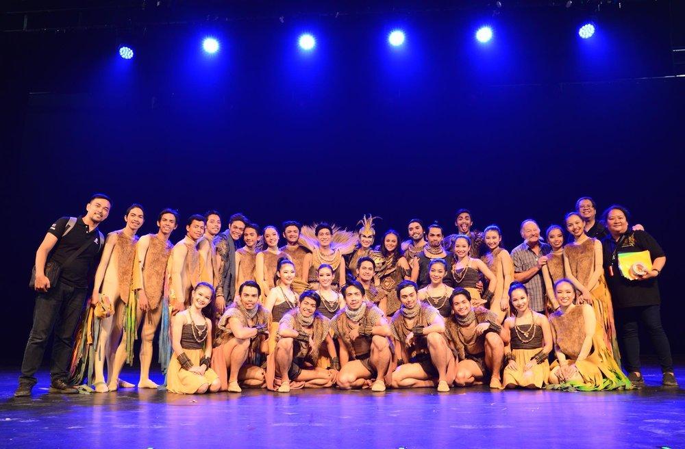 The Ballet Manila delegation that brought Gerardo Francisco's  Ibong Adarna  to Israel. Photo by Mark Sumaylo
